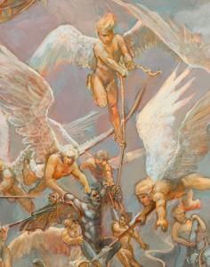 A closeup shot of the fresco. (Click for a bigger closeup)