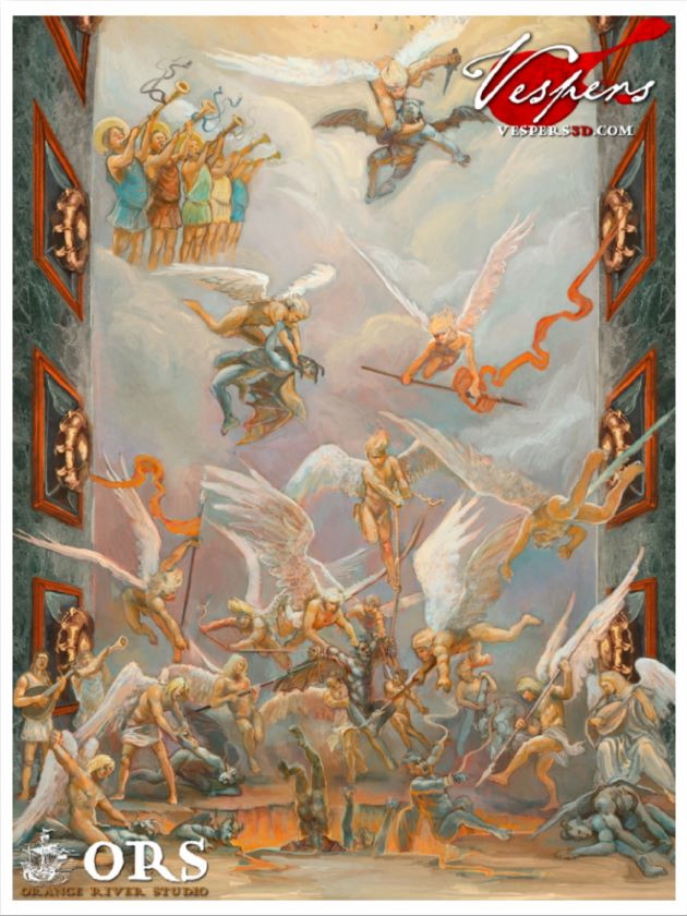 The first fresco, poster style. (Click to enlarge)